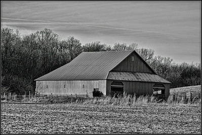 Barn in Black & White